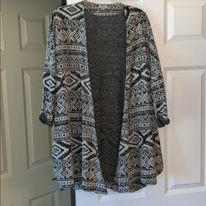 Urban Outfitters Black & White Patterned Cardigan